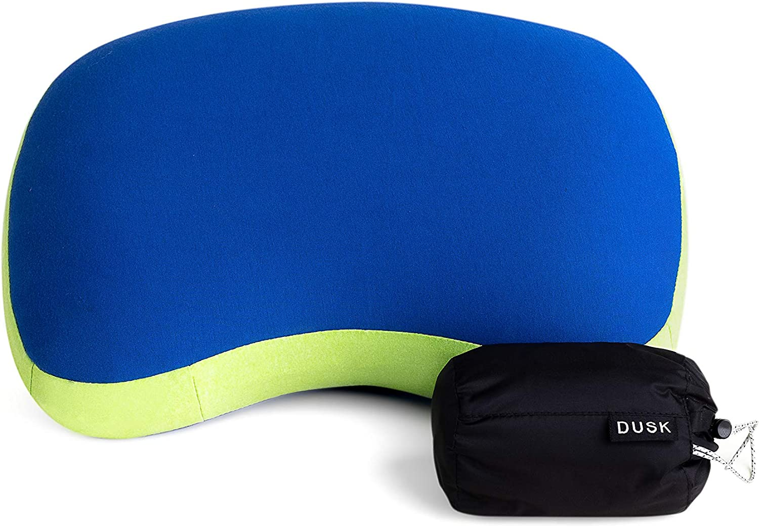 Compact Pillow with Water-Resistant Portable Bag DUSK Camping Inflatable Lightweight Soft Backpacking Pillow Comfortable