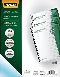 Fellowes 52311 Crystals Presentation Covers with Round Corners, 8Mil 11 1/4 X 8 3/4, Clear (Pack of 100)