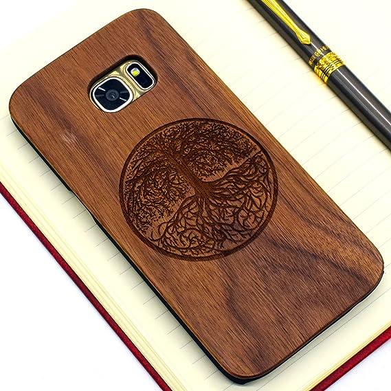 wholesale dealer 886d0 0de83 Wooden Case for Samsung Galaxy S7 edge [G9350] , Wood Smartphone Case,  YUANQIAN Unique Handmade Natural Solid Wood Engraving Case ...