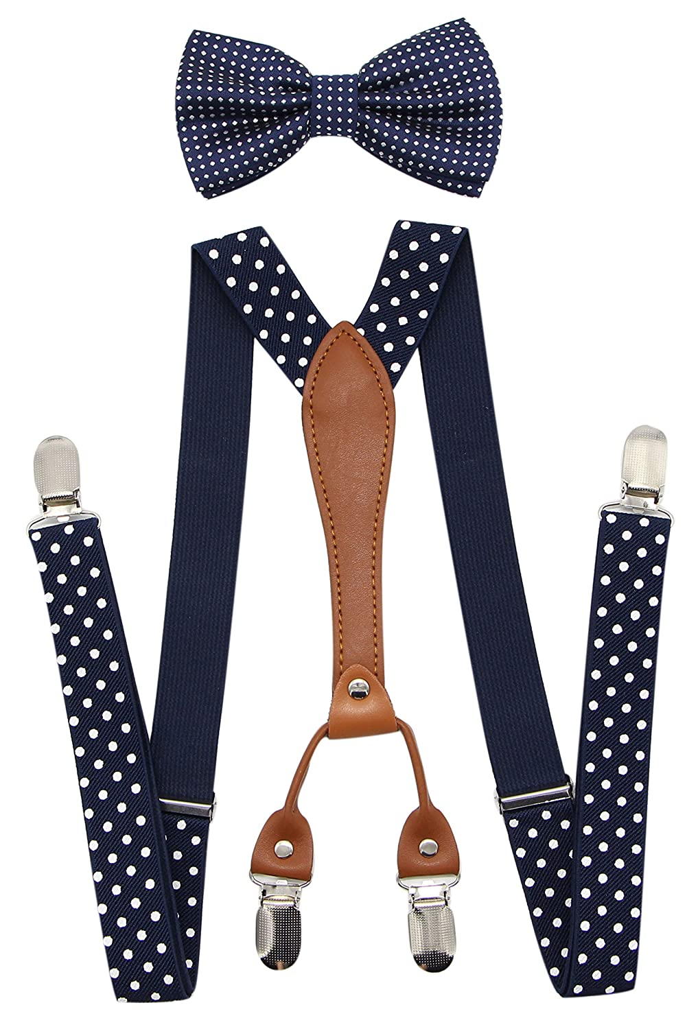 Retro Clothing for Men | Vintage Men's Fashion JAIFEI Suspenders & Bowtie Set- Mens Elastic X Band Suspenders + Bowtie For Wedding Formal Events $10.99 AT vintagedancer.com