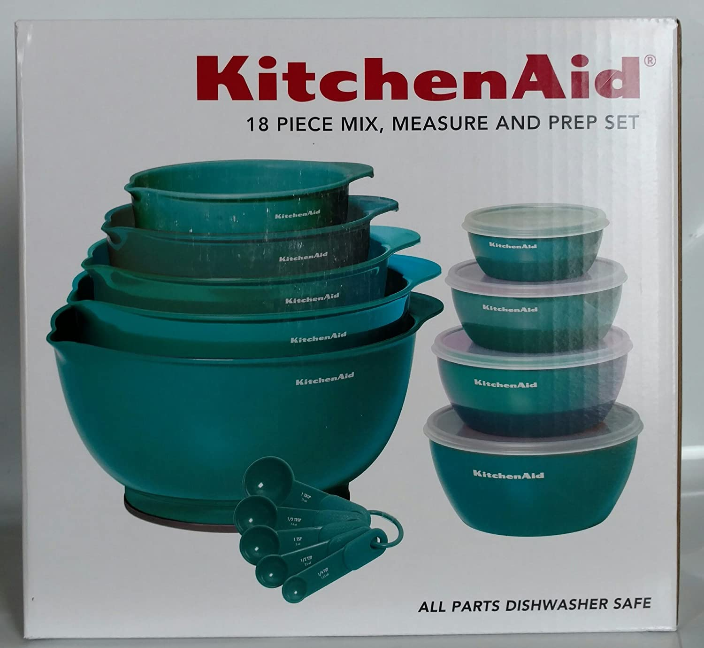 Amazon.com: KitchenAid 18 Piece Mix, Measure and Prep Bowl Set ...