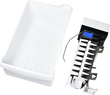 14 pulgadas. 3.62 kg Kit de máquina de hielo en color blanco para ...