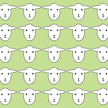 LAMINATED POSTER Sheep Wallpaper Pattern Green Illustrations Poster Print 24x 36