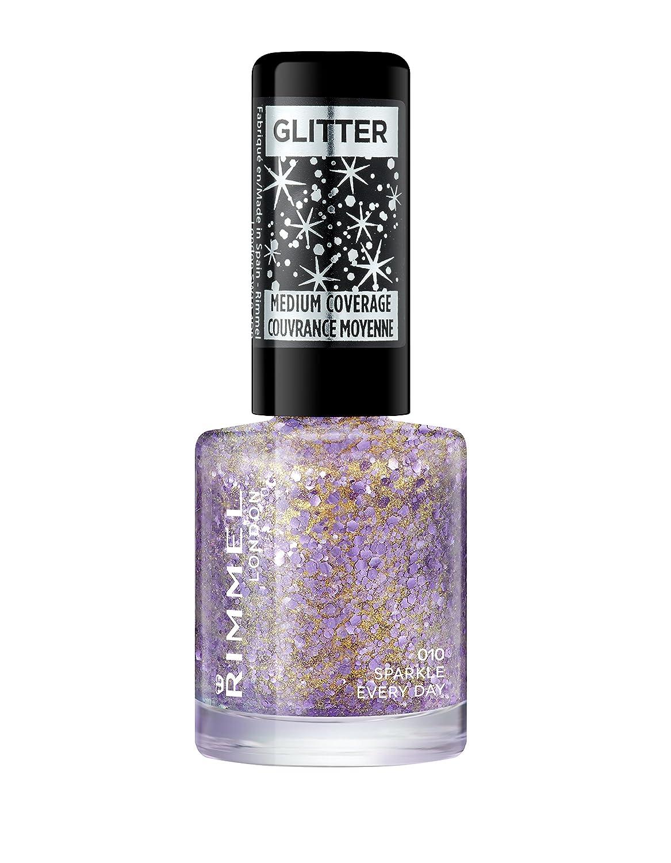Rimmel London Glitter Nail Polish Top Coat, Ruby Crush, 8 ml Coty 34779155002
