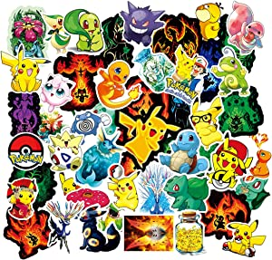 Acekar Pokemon Stickers for Hydro Flask, | 50 PCS | Vinyl Waterproof Stickers for Laptop,Skateboard,Water Bottles,Computer,Phone, Cute Anime Stickers (Pokemon)