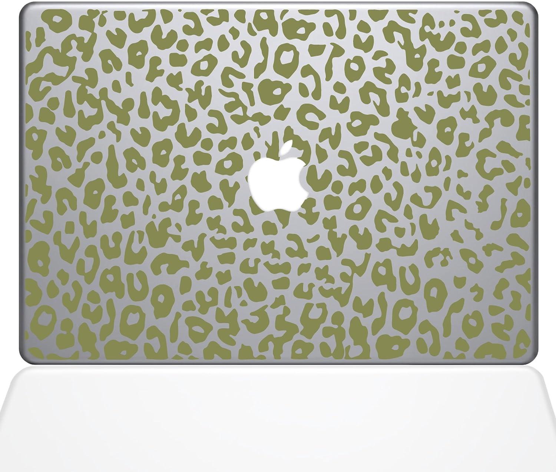 The Decal Guru 2047-MAC-13X-G Leopard Spots Decal Vinyl Sticker, Gold, 13