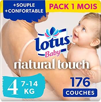 22 couches Lotus baby couches touch taille 1 de 2 a 5 kg