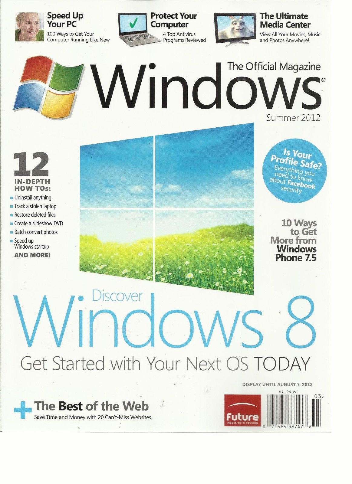 WINDOWS,SUMMER, 2012 THE OFFICIAL MAGAZINE (DISCOVER WINDOWS 8 GET STARTED WITH