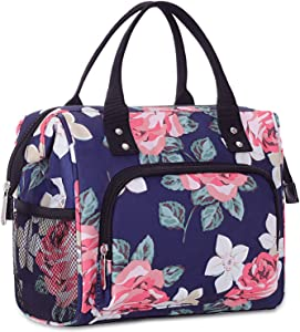 Lunch Bag for Women, Instant Lunch Bag, Large Tote Bag, Leakproof Reusable Cooler Lunch Bags for Work, Kids Lunch Bags,Thermal Snaks Organizer for Women and Men Office School Picnic-No Shoulder Straps