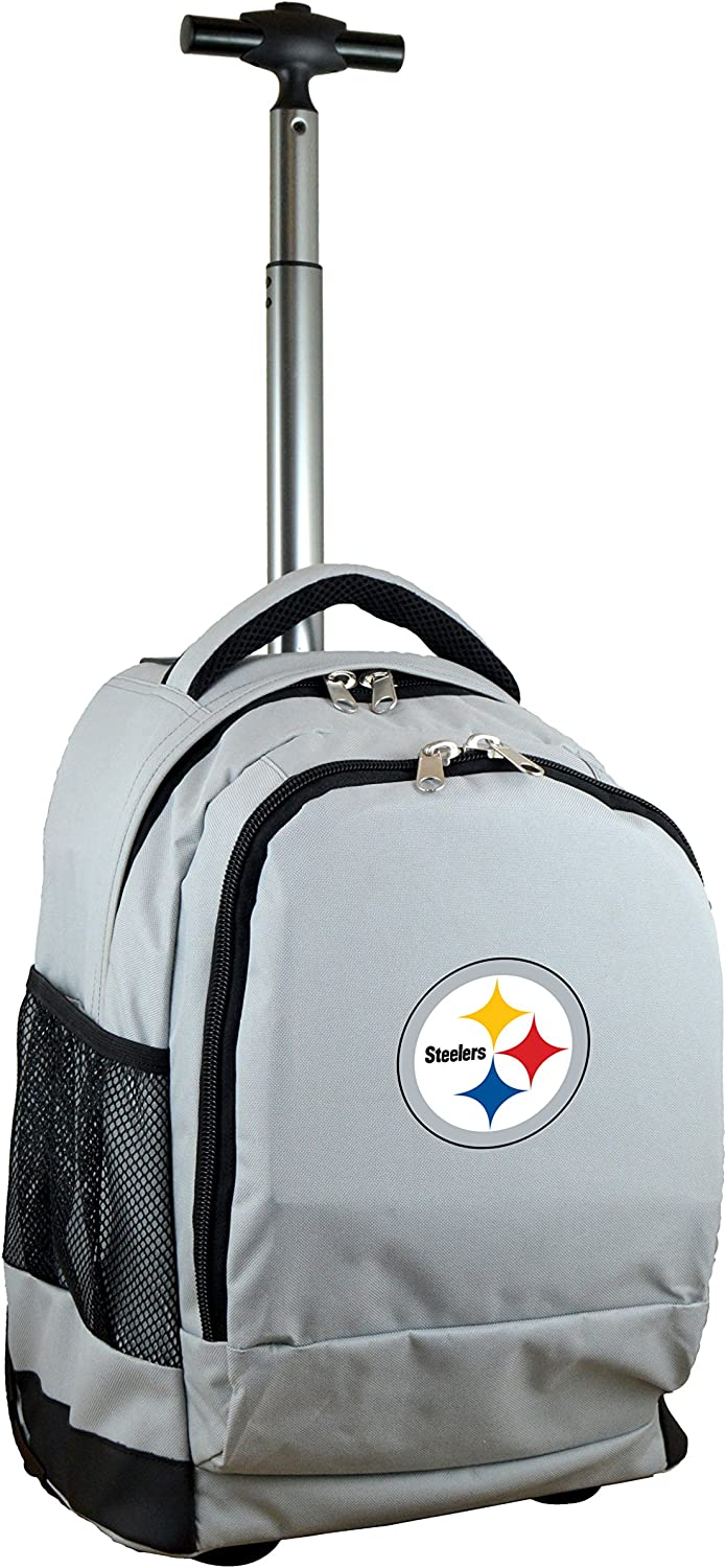 Grey 19-inches NFL Wheeled Backpack