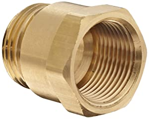 "Dixon BA796 Brass Fitting, Adapter, 3/4"" GHT Male x 3/4"" NPTF Female"