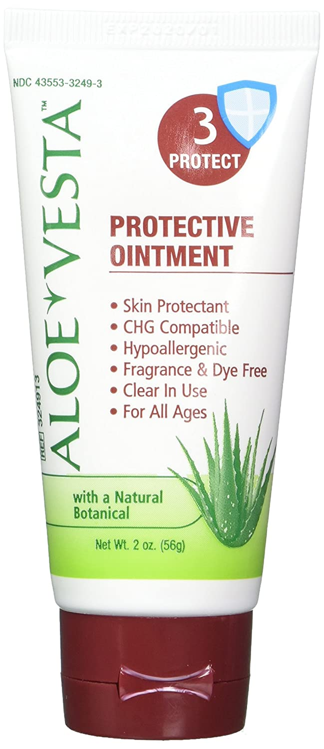 ConvaTec Aloe Vesta Protective Ointment 3 Protect 2 oz (Pack of 4) Neutrogena Fragrance Free Liquid Facial Cleansing Formula 8 Ounce