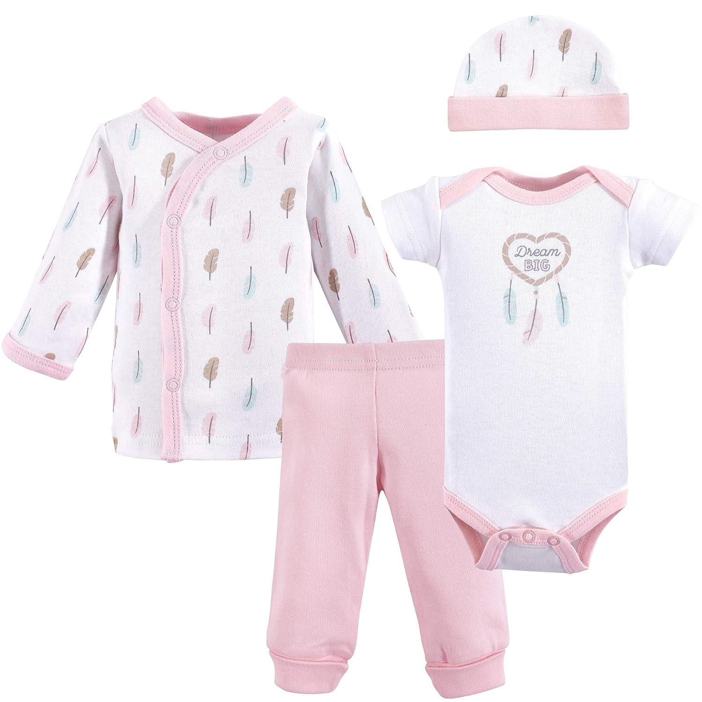 Luvable Friends Baby Boys' Preemie 4 Piece Pant, Bodysuit, Shirt, Cap Set Arrows 69057