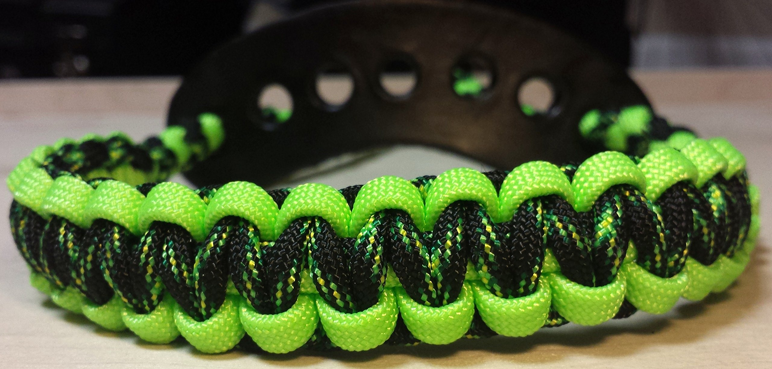 Muddy River Gear Archery Bow Wrist Sling Decay and Neon Green