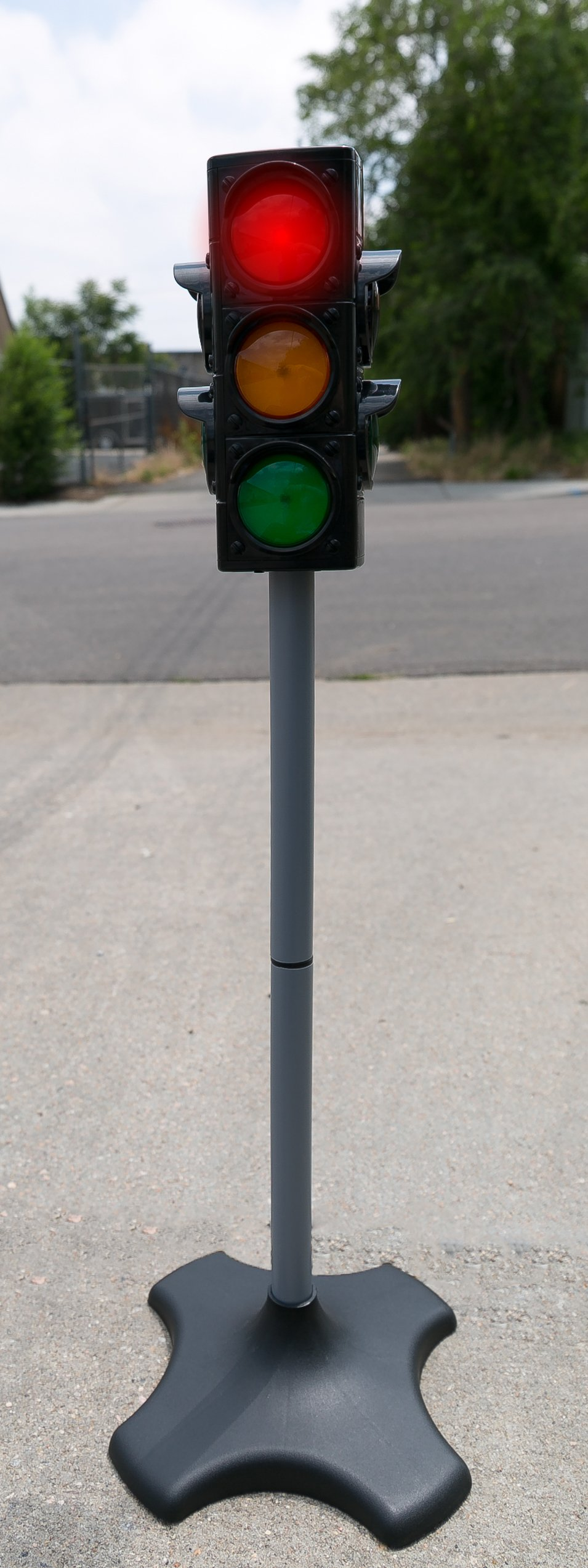 MMP Living Toy Traffic & Crosswalk Signal with Light & Sound - 4 Sided, Over 2 feet Tall by MMP Living (Image #7)
