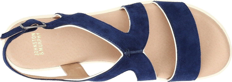 Johnston & Murphy Women's Cora Dark Blue Wedge Sandal B01HQVS45S 7 B(M) US|Dark Blue