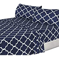 Utopia Bedding 4-Piece Bed Sheet Set - 1 Flat Sheet, 1 Fitted Sheet, and 2 Pillow Cases - Hotel Quality Luxurious Brushed Velvety Microfiber - Soft and Durable - Machine Washable