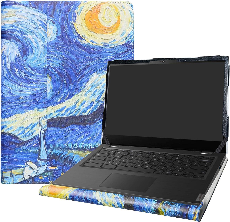 """Alapmk Protective Case Cover for 14"""" Lenovo 14e Chromebook/Lenovo Chromebook S345-14AST/Lenovo 14W Windows & HP Pavilion 14-ceXXXX Series Laptop[Note:Not fit Pavilion 14-bfXXX 14-bkXXX],Starry Night"""