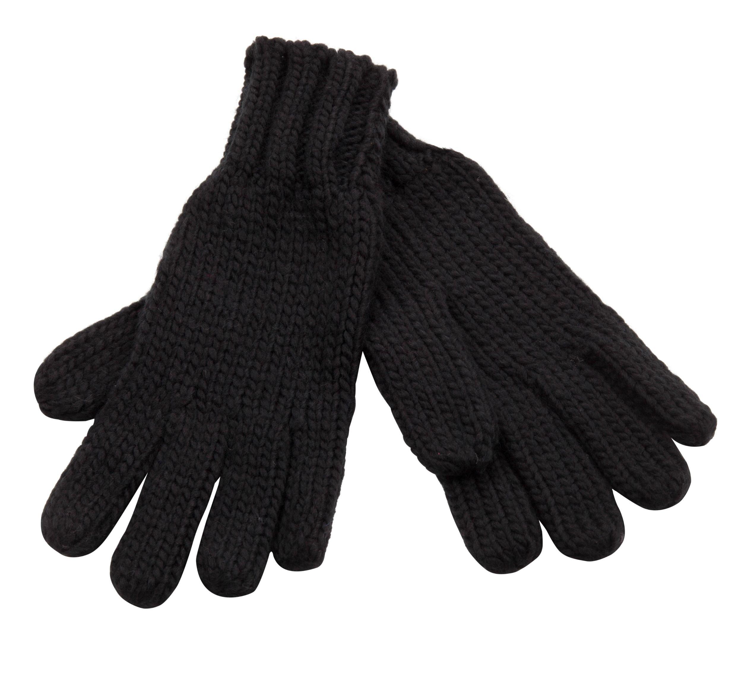 Isaac Mizrahi Women's Knit Glove with Rib Trim, (BLACK)