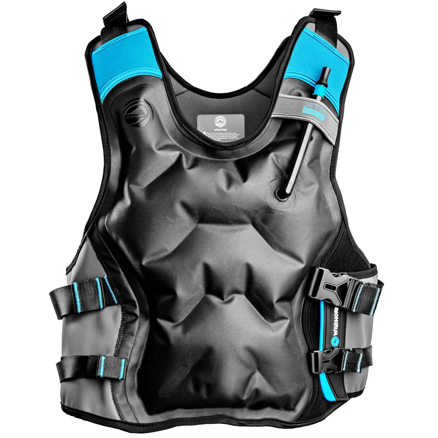 Jetty Inflatable Snorkel Vest - Premium Snorkel Jacket for Adults. Features Balanced Flotation, Secure Lock and Comfort Fit. Perfect For Snorkeling, Paddle-boarding and Other Low Impact Water Sports. by WildHorn Outfitters