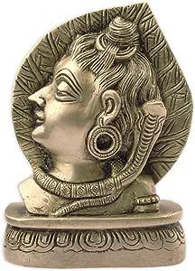 Indian deidad Lord Shiva Mahadeva latón Estatua Escultura