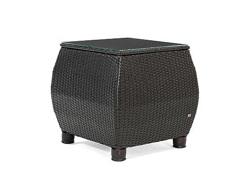 La-Z-Boy Outdoor ABRE-ST Patio Side Table, Brown