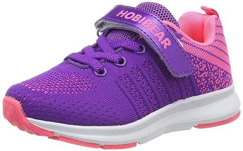 separation shoes ae862 5e6df Hallenschuhe Kinder Turnschuhe Jungen Sport Schuhe Mädchen Kinderschuhe  Sneaker Outdoor Laufschuhe für Unisex-Kinder Violett,31 EU=32 CN
