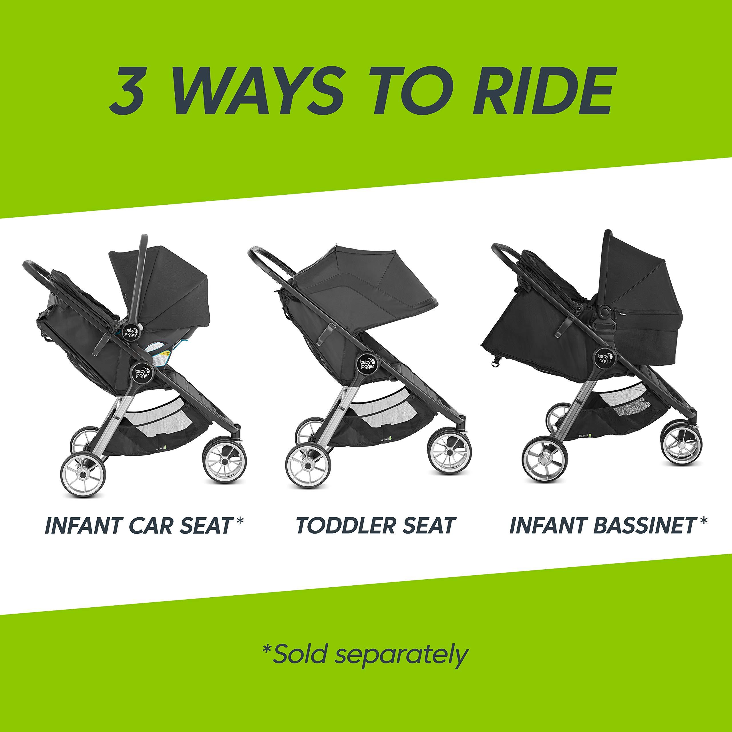 Baby Jogger City Mini 2 Stroller - 2019   Compact, Lightweight Stroller   Quick Fold Baby Stroller, Carbon by Baby Jogger (Image #5)