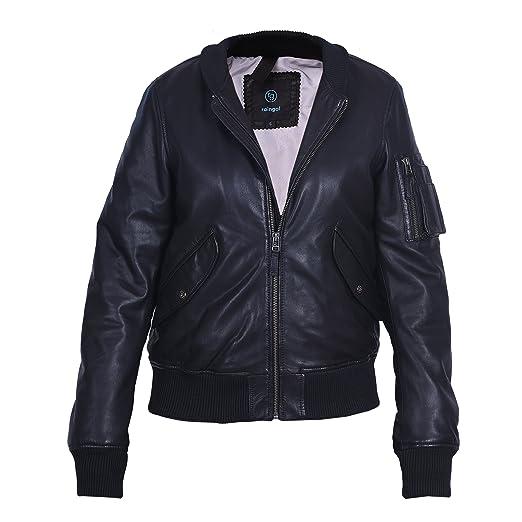 Bomber Jacket Women 100 Lambskin Black Leather Jacket Soft Luxury