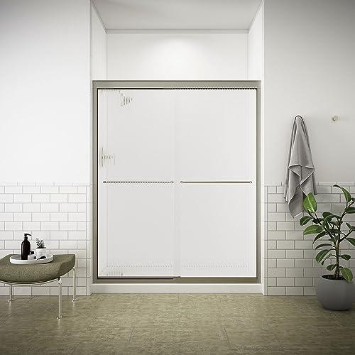 KOHLER K-702206-G54-MX Fluence Frameless Bypass Shower Door, Matte Nickel