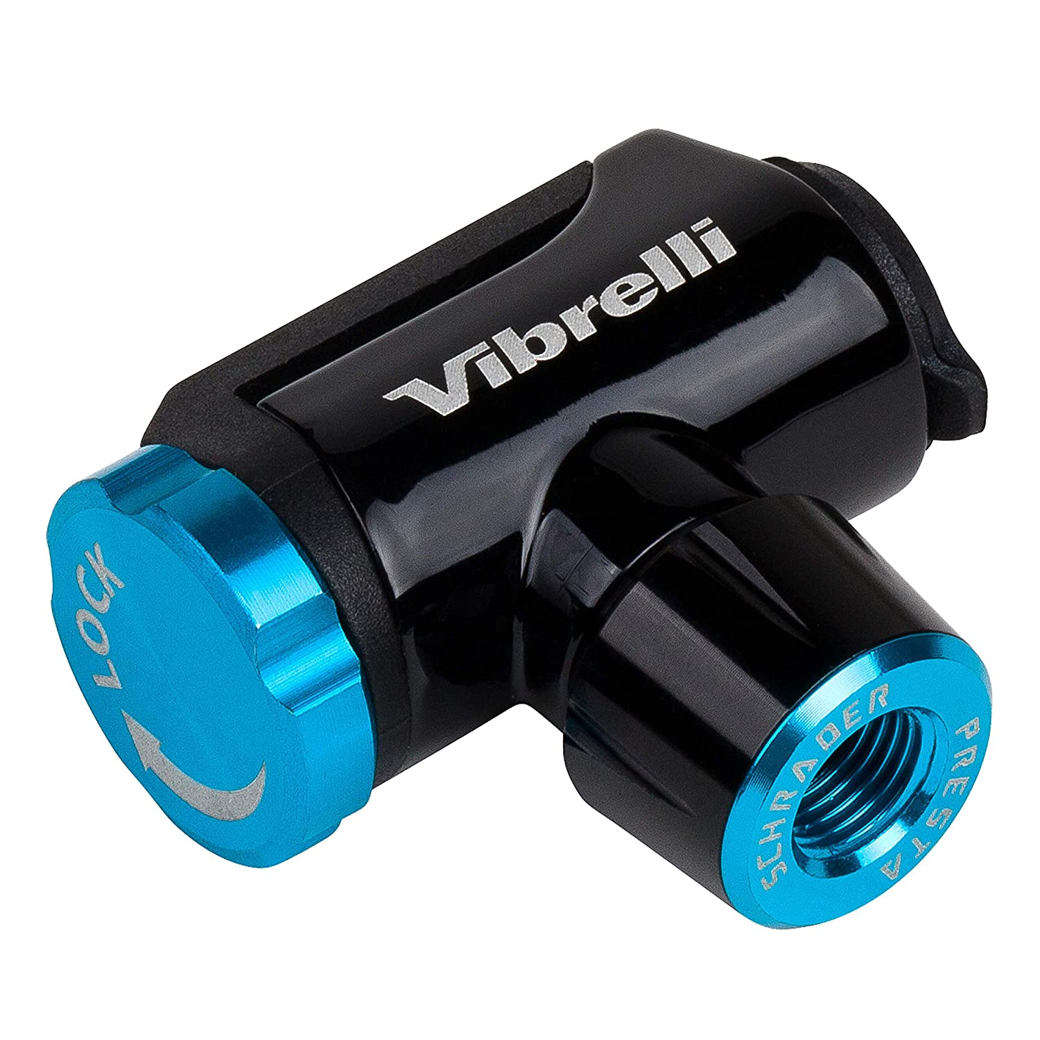 Vibrelli Performance CO2 Inflator – Glueless Puncture Kit – Presta Schrader Valve Compatible