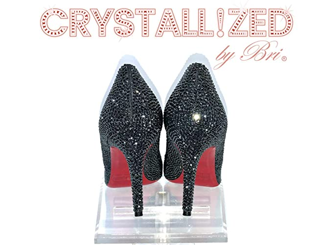 0dc274b8c9c Amazon.com  Custom Made Swarovski CRYSTALLIZED High Heels Bling Crystals   Handmade