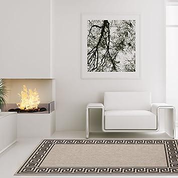 carpet city Teppich Modern Designer Wohnzimmer Villa Sisal Mäander ...