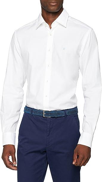 Hackett London Wht Texture Multi Trim Camisa para Hombre: Amazon.es: Ropa y accesorios
