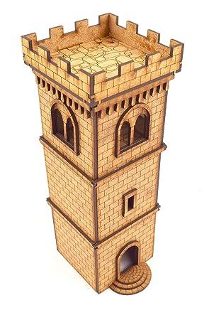 WWG Medieval Town - Torre Defensiva con almenas - 28mm ...
