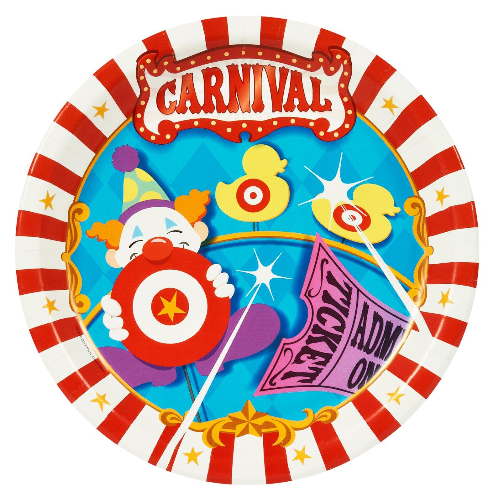 BirthdayExpress Carnival Games Dinner Plates (48)