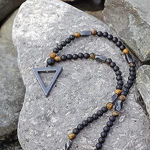 PerlaStyle Collar de Hombre o Mujer con Piedra de hematita: Amazon ...