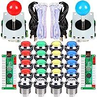 EG STARTS 2 spelers klassieke Arcade wedstrijd DIY kits USB Encoder naar PC Joystick + 8 mogelijkheden sticker + Chrome…