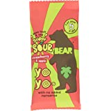 Bear Nibbles Yoyo Super Sour Strawberry and Apple Fruit Rolls, 20 g, Pack of 18