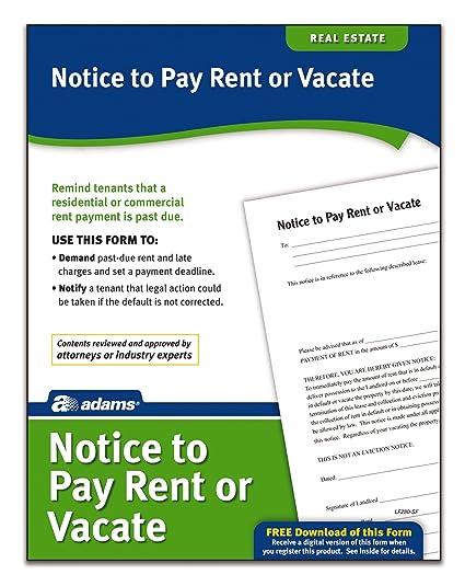 past due rent form
