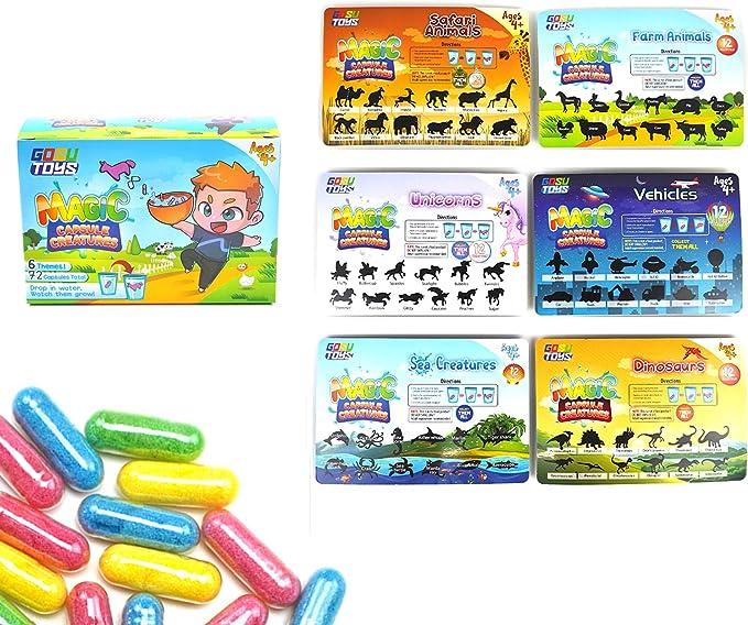 Magic Grow Growing Animal Capsules Expanding Sponge Pick Foam Theme Capsule Z5A1