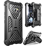 HTC 10 Case, i-Blason Prime [Kickstand]Heavy Duty [Dual Layer] Combo Holster Cover case with [Locking Belt Swivel Clip] for HTC 10 2016 Release (Black)