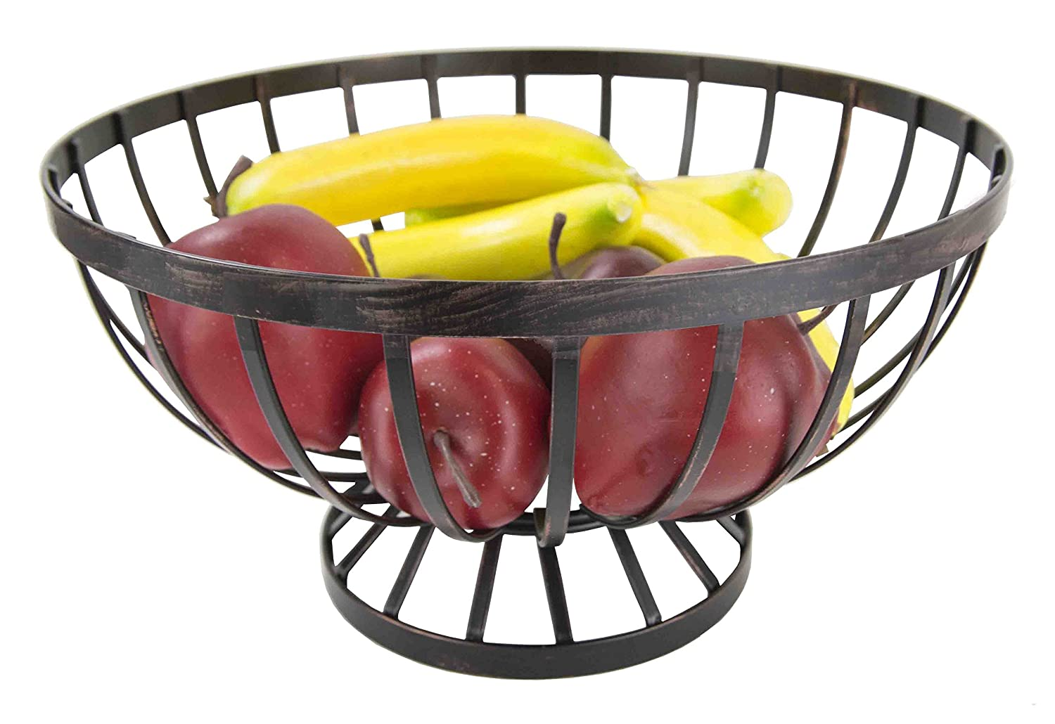 Home Basics Rustic Oil-Rubbed Bronzed Fruit Basket HDS Trading Corp.