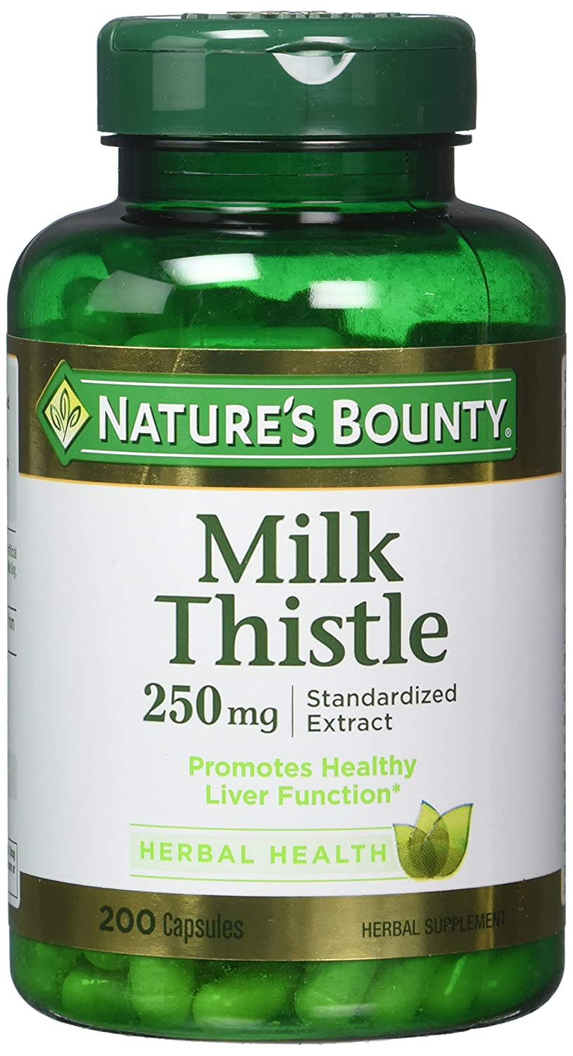 Nature s Bounty Milk Thistle 250 mg Capsules 200 ea Pack of 2