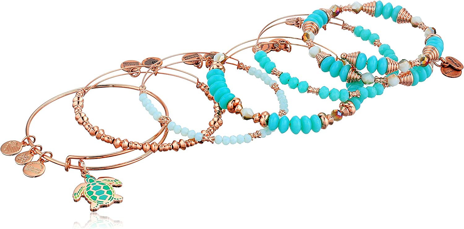 Alex and Ani Womens Color Infusion Go with The Flow Bracelet Set of 5