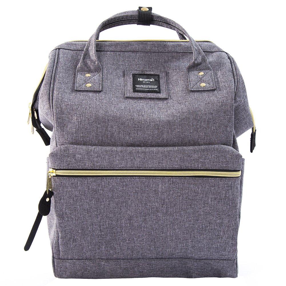 Himawari Travel Backpack Large Diaper Bag School multi-function Backpack for Women&Men 11''x16''x6.3''(Gray)