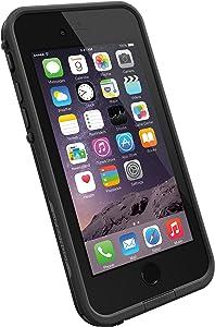 """LifeProof FRĒ iPhone 6 ONLY Waterproof Case (4.7"""" Version) - Retail Packaging - Black/Black"""