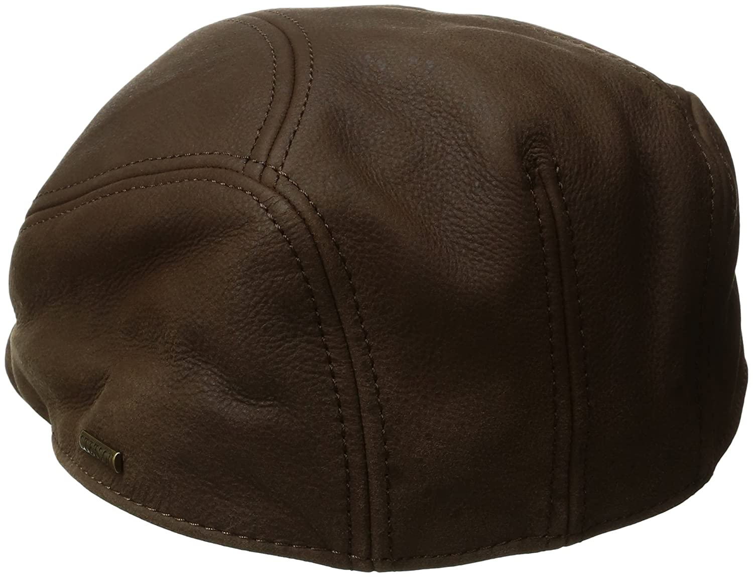 3a99b0a8b2c60 Stetson Men s Oily Timber Leather Ivy Cap at Amazon Men s Clothing store