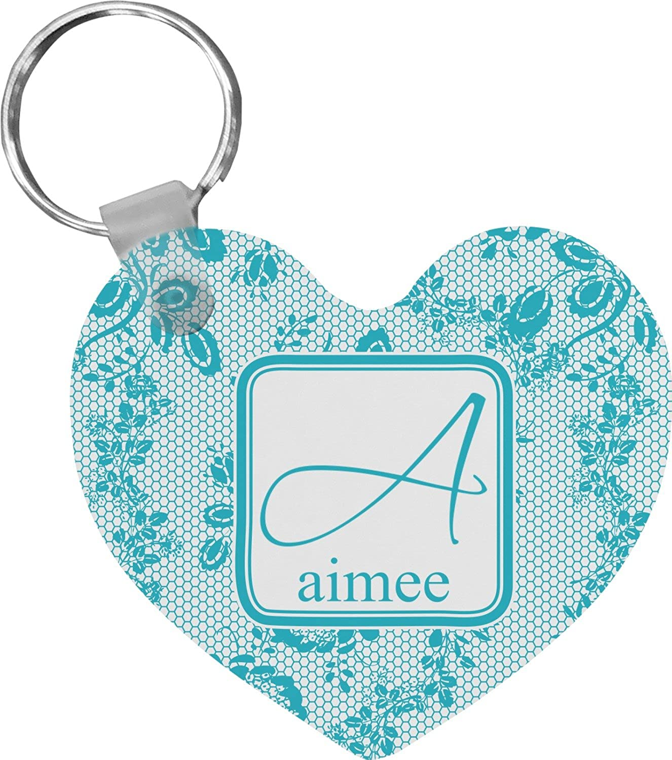 Lace Heart Keychain (Personalized)
