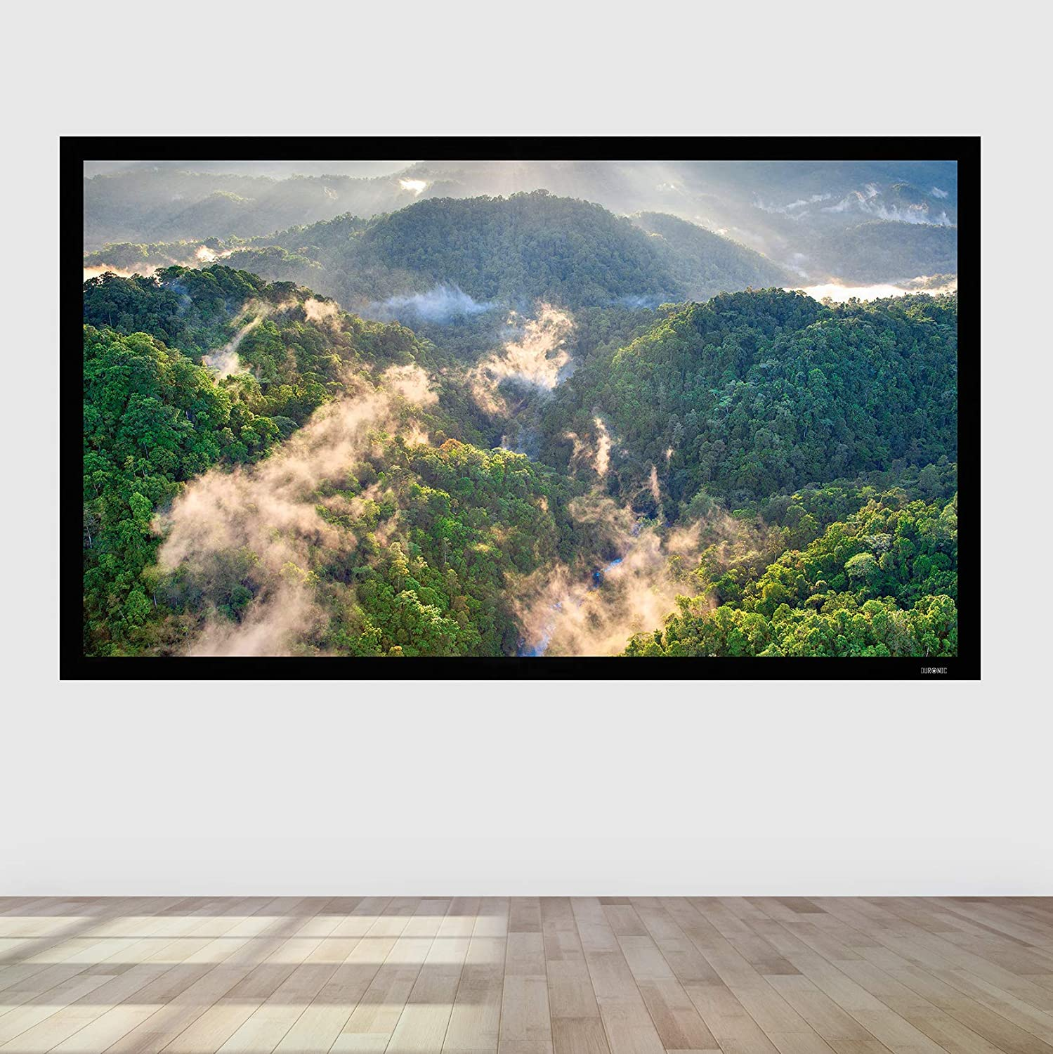 Office/… 133-Inch Fixed Frame Projection Screen 16:9 Ratio Ideal for Home Theatre Classroom Wall Mountable HD High Definition Image Duronic Projector Screen FFPS133//169 +1 Gain